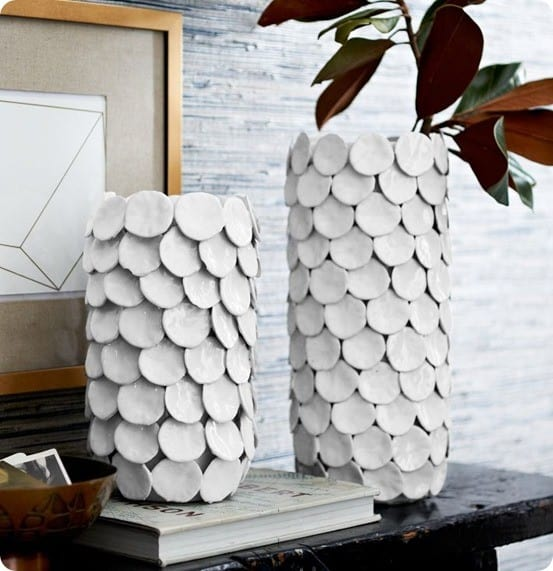 fin ceramic vase from west elm