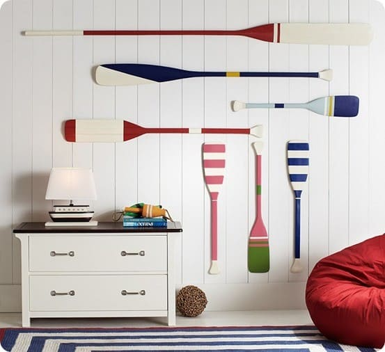 Painted Stripe Oar Wall D 233 Cor