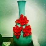 Painted Flower Vase Makeover