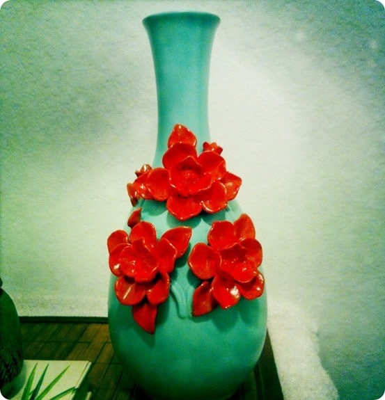 painted flower vase