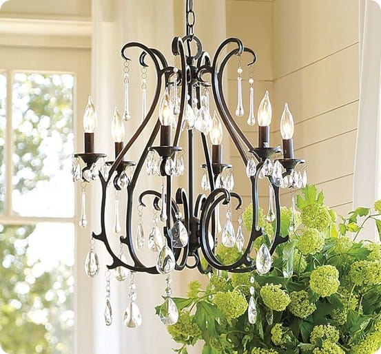 pottery barn celeste chandelier