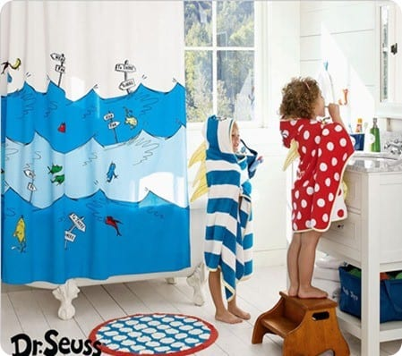 Vintage pottery barn kids dr seuss bathroom