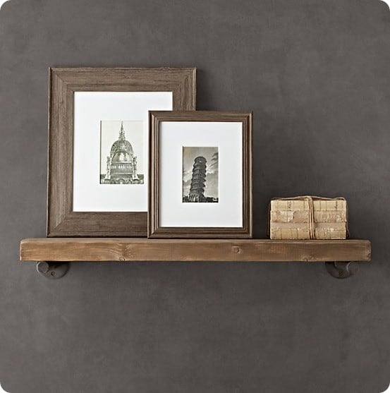 reclaimed wood and metal wall shelves. Black Bedroom Furniture Sets. Home Design Ideas