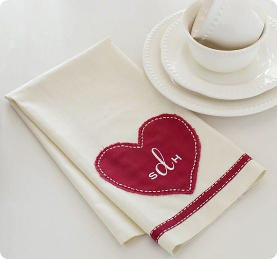No Sew Heart Applique Towel For Under 1