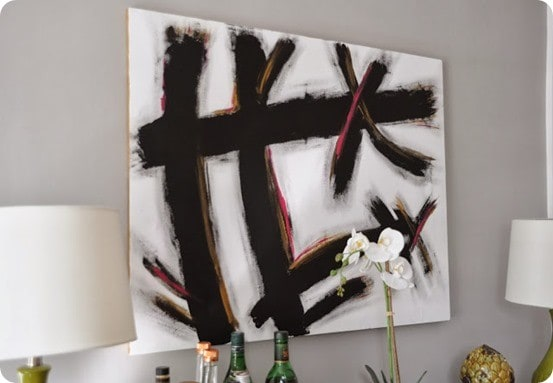 west elm inspired abstract art