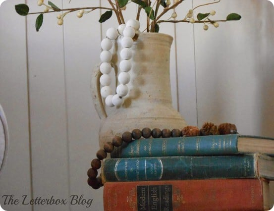 wood bead vase filler