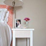 wood tiled nightstand