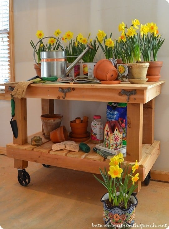 Build A Potting Table For Spring