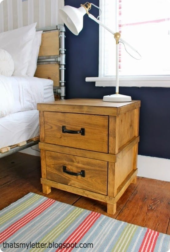 DIY wood nightstand