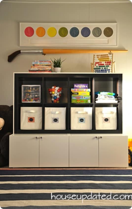 Playroom Toy Storage System The Easy Way