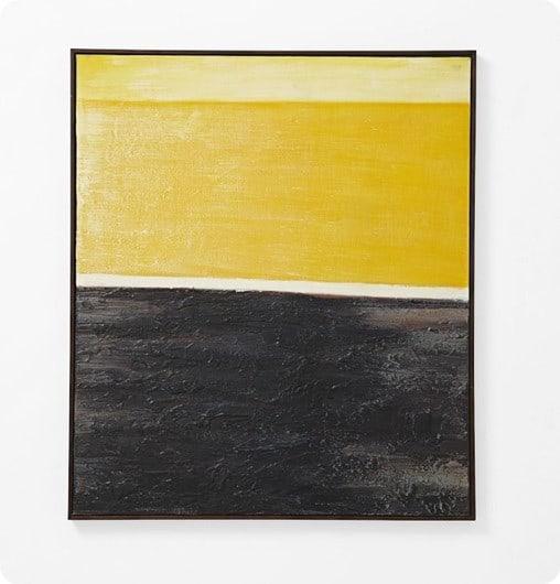 Luxury abstract wall art yellow