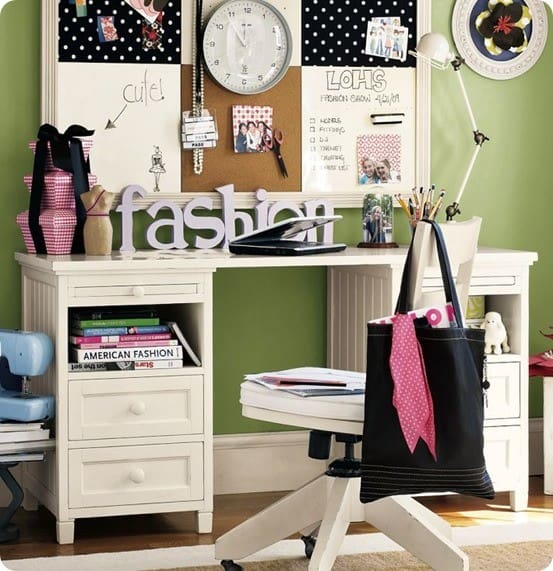 beadboard desk from pb teen