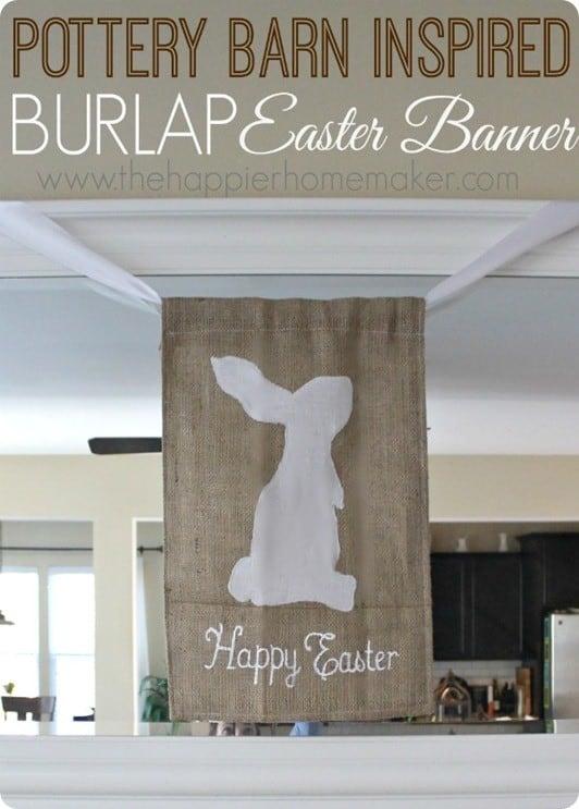 burlap easter banner
