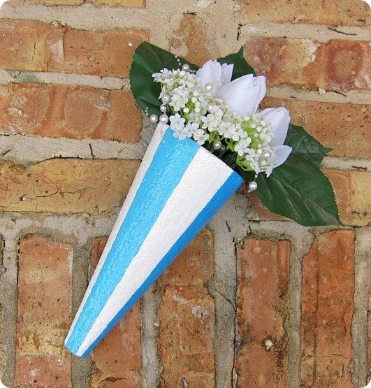 cone wall planter
