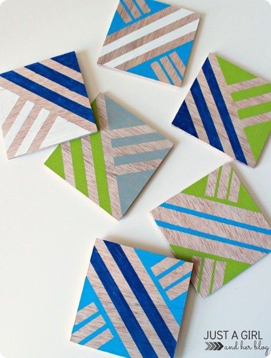 diy coasters from plywood