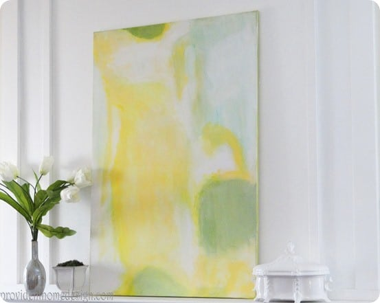 diy spring abstract painting