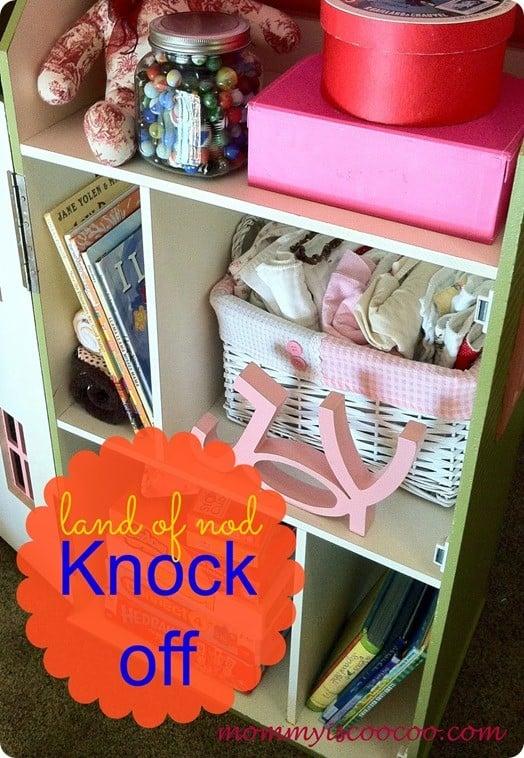 dollhouse bookcase knock off