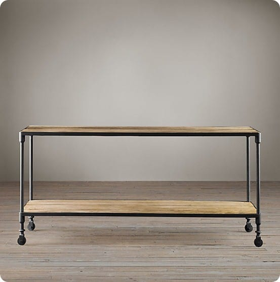dutch industrial console table