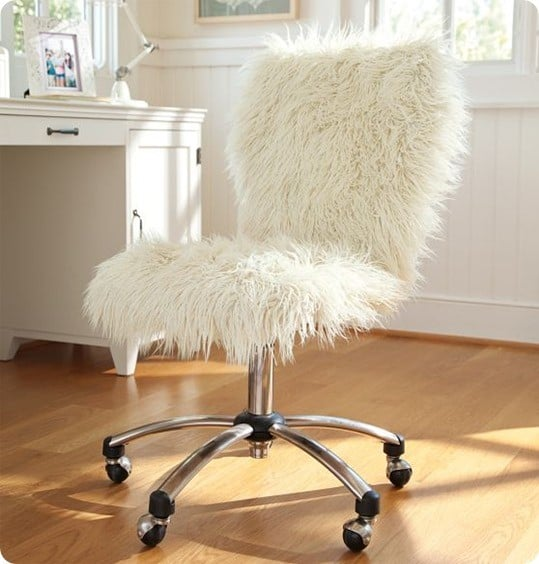 Faux Fur Chair For A Teen Retreat Knockoffdecor Com