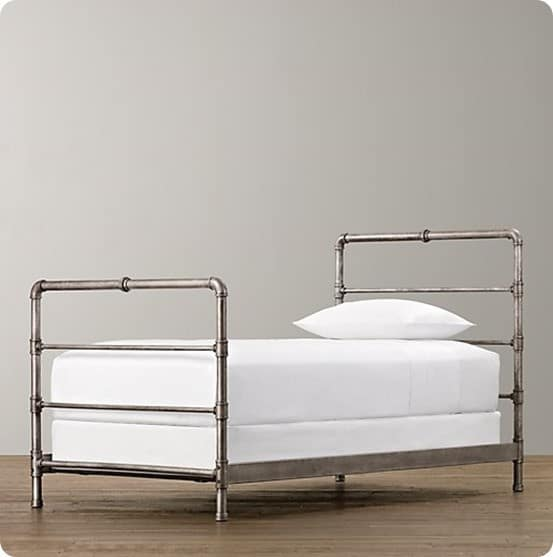 Industrial Wood And Metal Pipe Bed Knockoffdecor Com