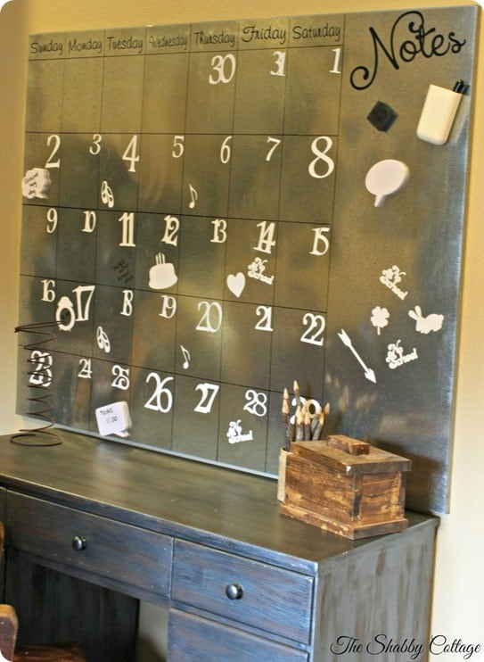 magnetic metal calendar