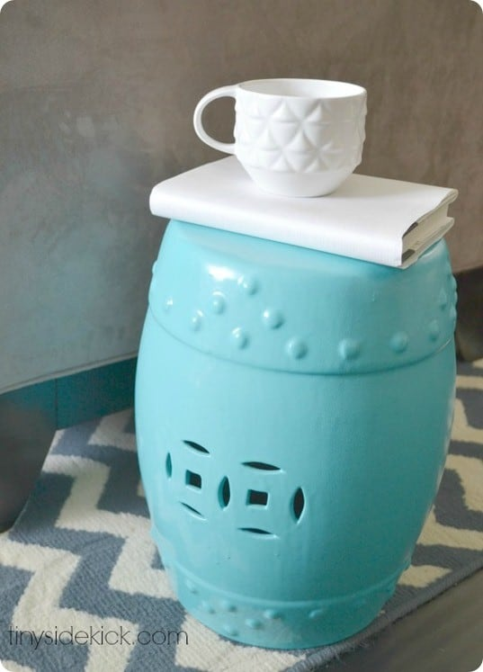 Teal Ceramic Garden Stool Bar Stools