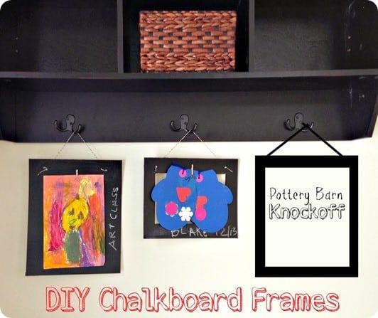 pottery barn knockoff chalkboard frames
