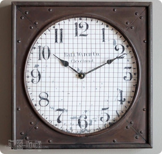 rustic industrial clock