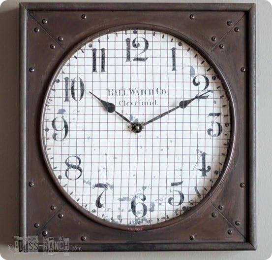 rustic industrial clock