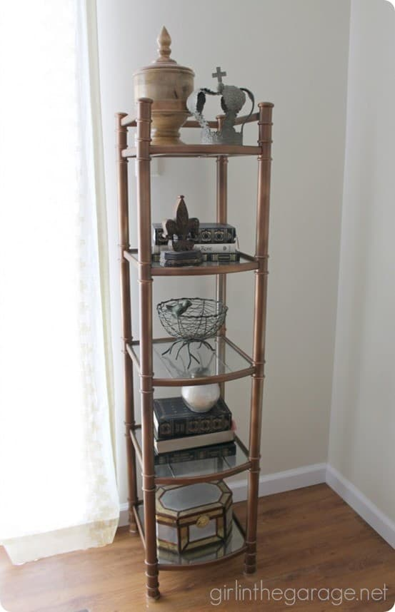 spray painted etagere