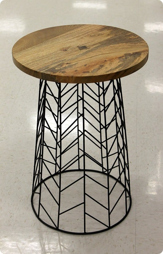 target wood and wire table