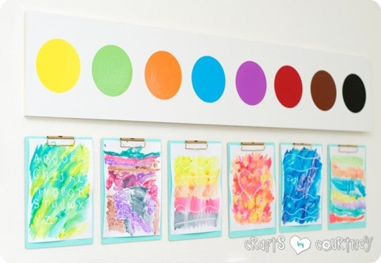 watercolor palette wall decor