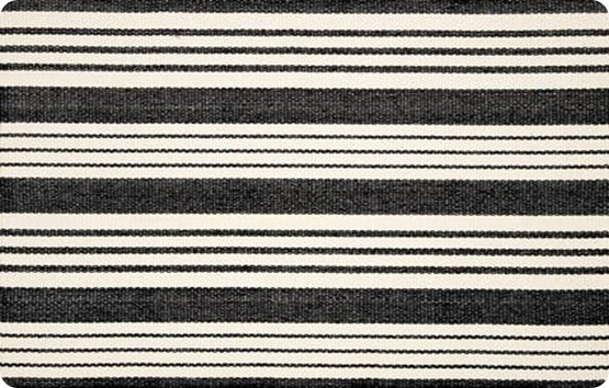 Birmingham Black Woven Cotton Rug