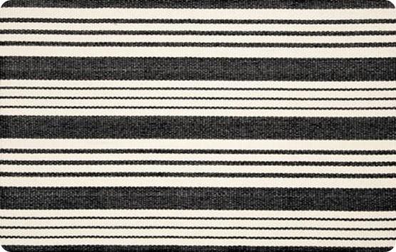 Birmingham Black Woven Cotton Rug