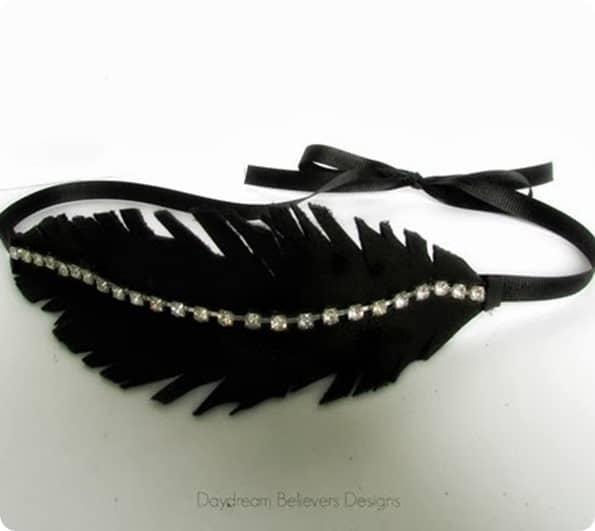 DIY Leather Feather Headband Tutorial