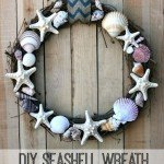 Faux Shell Wreath for a Housewarming Gift