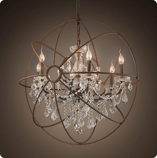 easy as pie orb chandelier