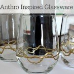 Glassware Goes Glam with Gold Paint