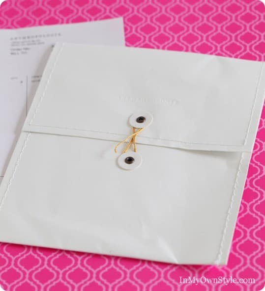 anthropologie sewn envelope