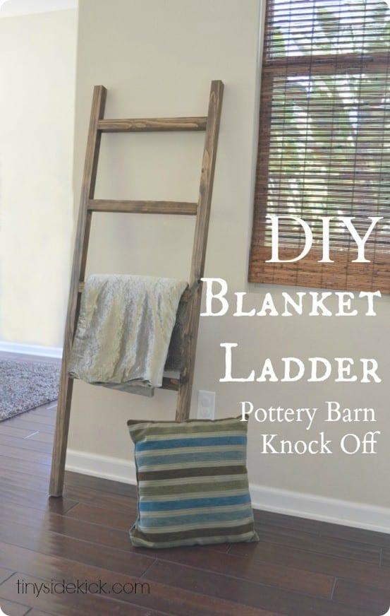 Rustic Blanket Ladder For 5 Knockoffdecor Com
