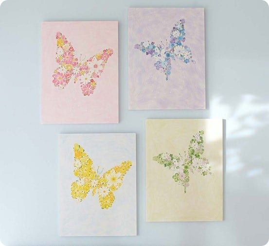 butterfly flower plaques