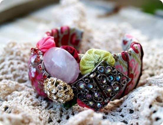 diy embellished cuff bracelet