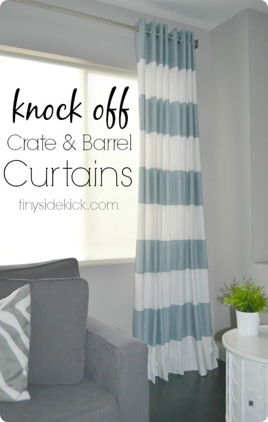 diy hoizontal stripe curtains