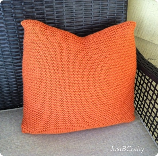 diy knit pillow