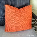 Simple Handmade Knit Pillow Cover