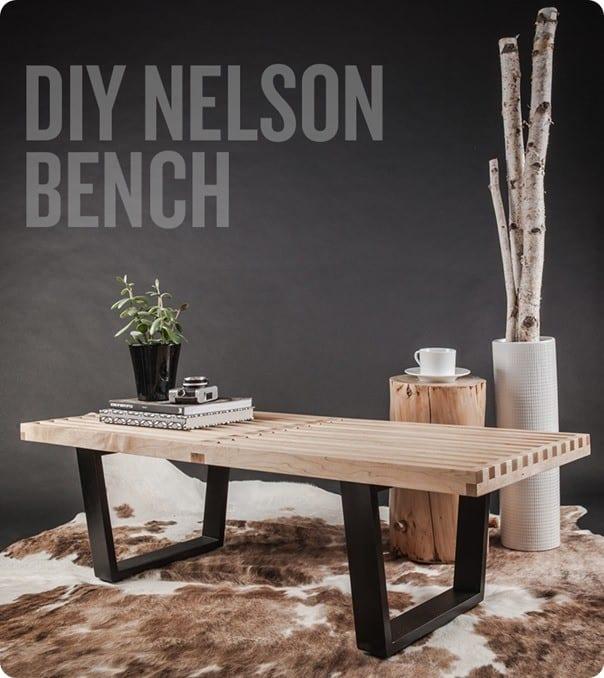 Stunning Slatted Wood Bench Knockoffdecor Com
