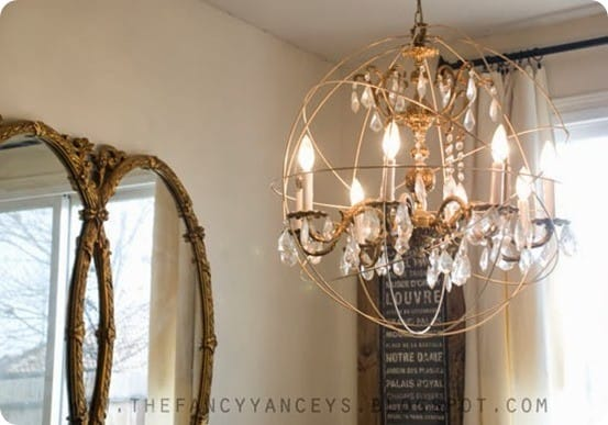 Easy as pie orb chandelier diy orb chandelier aloadofball Images