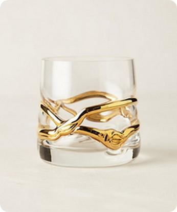 glimmer wrapped glassware