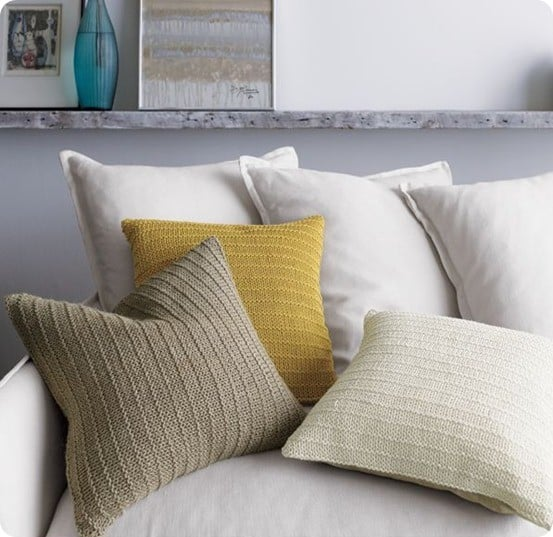 linen knit pillow