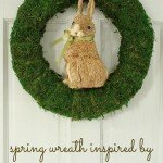 Sisal Bunny and Moss Spring Wreath